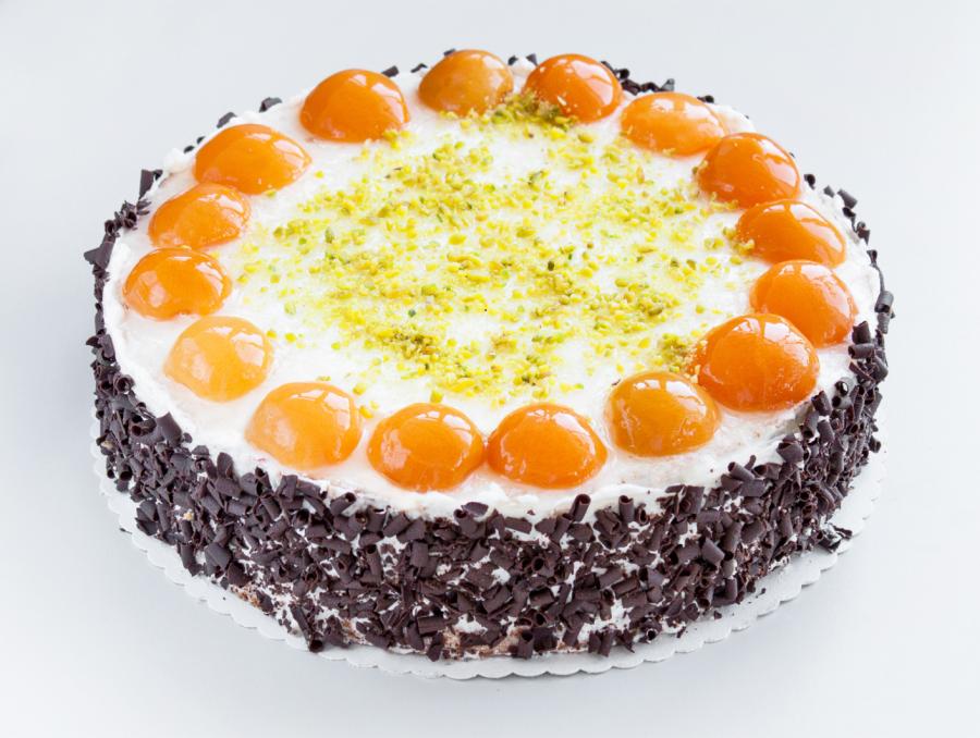 Frucht-Sahne Torte Aprikose