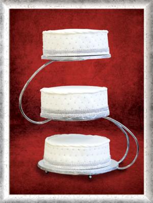 Hochzeitstorte, 3-stöckig, Fondant, Zuckerperlen, Rautenmuster