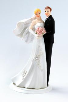 Brautpaar blond - brünett