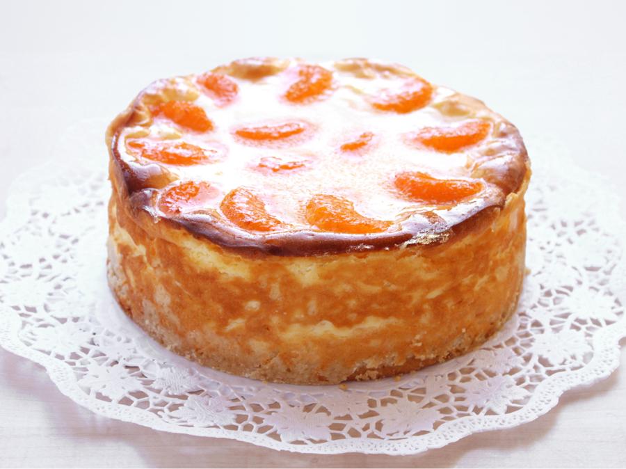 Käsetorte mit Mandarinen