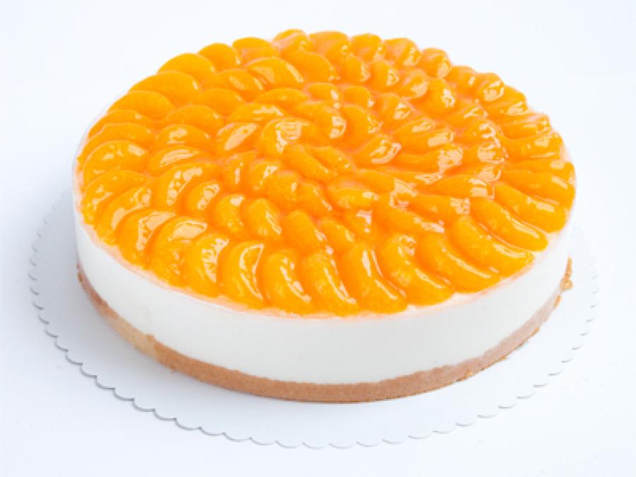 Quark-Sahnetorte Mandarine